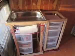 Interior sink stand